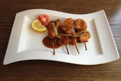 Skewered Satay Chicken with Satay Sauce