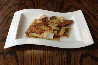 Roast Pork with Bamboo Shoots & Water Chestnuts